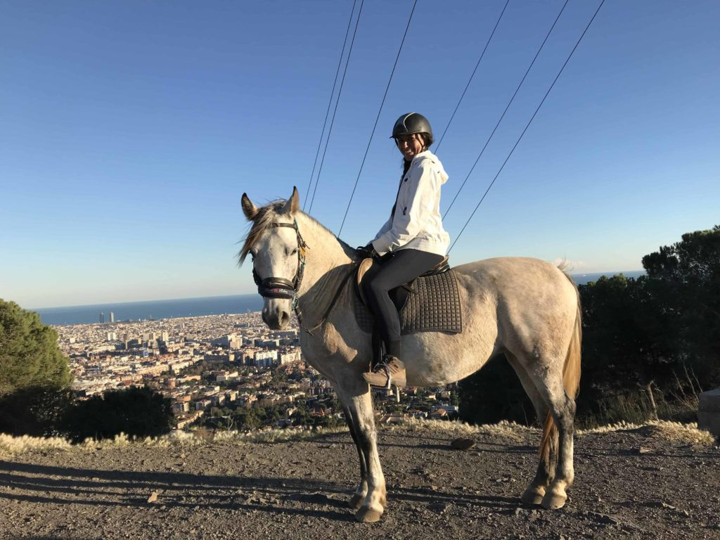Views over Barcelona from the back of a horse 1