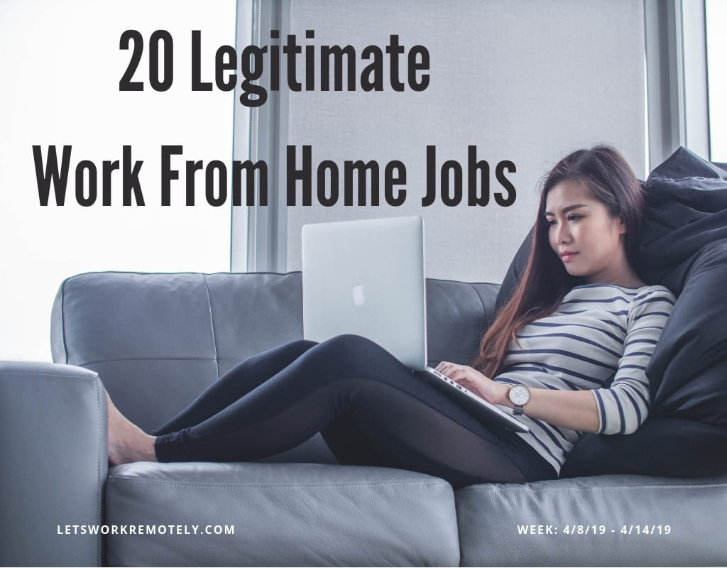 20 Legit Work From Home Jobs at letsworkremotely