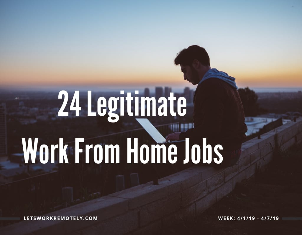 Remote jobs list - week 4/1/19 - 4/7/19